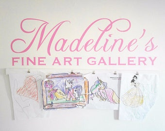 Child's Artwork Display - FINE ART GALLERY vinyl design