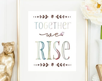 Real Prints / Social Worker Gift / Together We Rise / Teamwork Print / Employee Recognition Gift / Employee Appreciation Gift