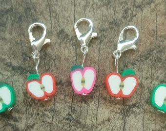 Apples Fimo Stitch Marker Set