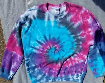 Hippie Autumn/Winter Wear Tie-dye Sprial Soft Cotton Poly Blend Sweatshirt