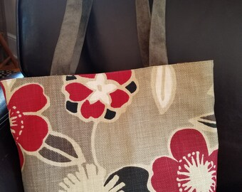 Red Flower Bag