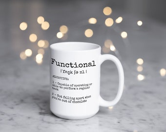 Functional: No More Chocolate Large Statement Coffee Mugs With Sayings for Coffee Lover + Coffee Addict + New Homeowner or Bestie Gift