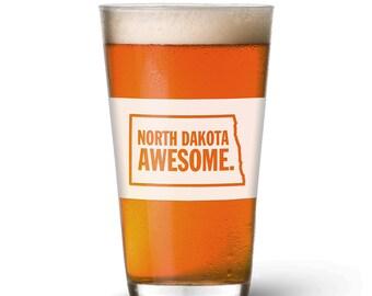 North Dakota Awesome Pint Glass