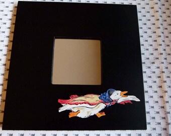 frame black mirror Sophie canetang handpainted