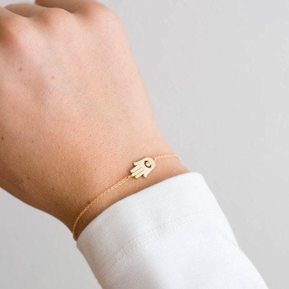 Hamsa Bracelet Gold Tiny Hamsa Bracelet Hand Of Fatima