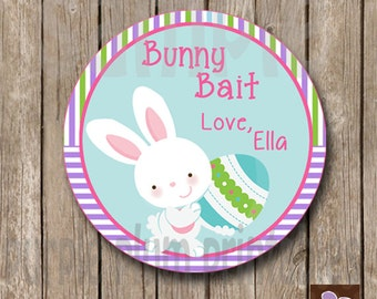 Personalized - Bunny Bait Tag - Happy Easter - Egg Hunt - Print at Home