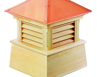 """Manchester Wood Cupola with Copper Roof 22"""" x 27"""""""