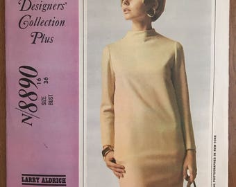 McCall's Larry Aldrich New York Designer Dress Pattern #8890