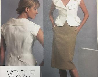 Vintage Vogue V1093 DKNY Jacket and Skirt Pattern (Out of Print)