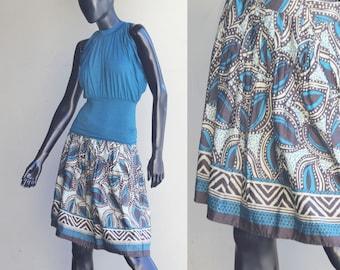 Vintage St.Johns Bay Floral Print Pleated Skirt US Size 6