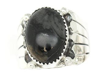 Navajo Men's Picasso Marble Serpentine Ring