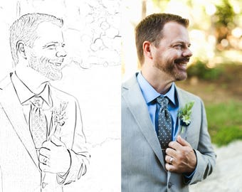 Custom Personalized Coloring Book Page From Your Photograph