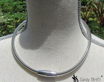 Tahitian black sand necklace - 46 cm