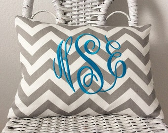 Chevron Pillow Cover Choose Your Style Monogrammed Pillow WITH INSERT