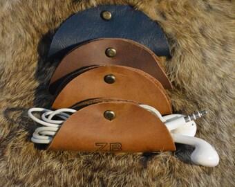 Leather Headphones Case