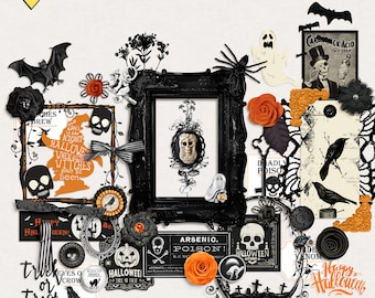 Gothic Halloween - Digital Scrapbooking Elements