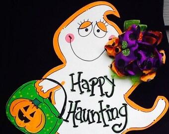 Ghost door hanger, ghost sign, halloween sign, halloween door sign, halloween door hanger, trick or treat sign, ghost door hanger, fall sign