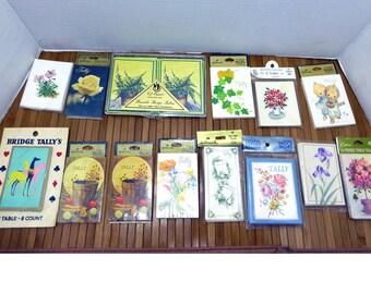 Bridge tally cards - tallies card collection - vintage hallmark more - scrapbook notecard paper