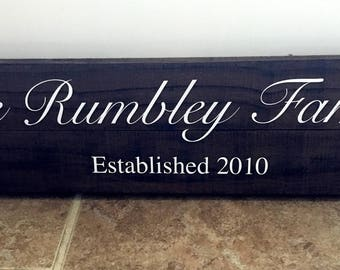 Name Signs for House | Last Name Wooden Sign | Established Sign | Personalized Sign | Wedding Gift