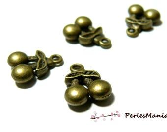 Lot of about 40 pieces fine cherry 3D pendant Bronze 63 ref