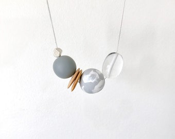 "Grey dove ""minimalism"" necklace 