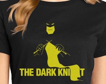 The Dark Knit Batman Justice League Knitting Ladies Super Soft Tee (While supplies last)