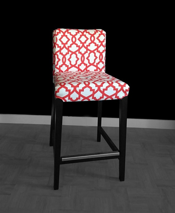 Custom Henriksdal Chair Covers Red Pattern Ikea Seat Cover