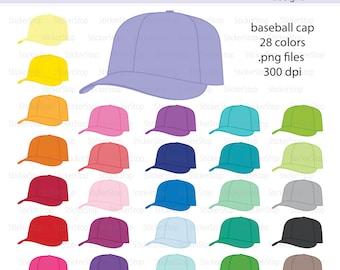 Baseball Hat or Baseball Cap Digital Clipart - Instant download PNG files