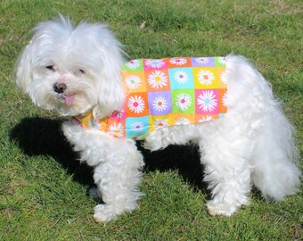 Dog Shirt, XS and S Dress Shirt for Dogs, Multi color Floral Designer Fashion Dog clothes