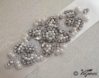 READY TO SHIP - Wedding Belt, Bridal Belt, Sash Belt, Wedding Sash Belt, Ivory wedding sash