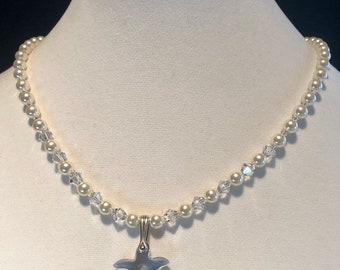 Swarovski Pearl and Starfish Necklace