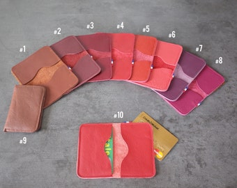 CARD cases - Double - Brown/pink