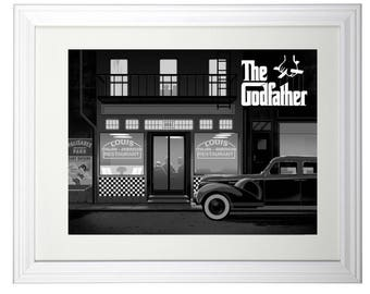 The Godfather art print framed ready to hang