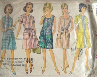 "1960s Dress Pattern, 1960 Dress Pattern, Simplicity 7025 Pattern, Summer Dress Pattern, Beach Dress Pattern, 60s Dress Pattern, Bust 36"""