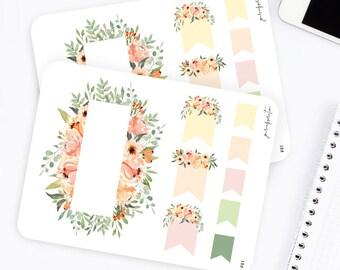 F61 | Flag Stickers | Functional Stickers | Watercolor Stickers | Page Flags Fall Stickers | | Flower Stickers | Bullet Journal Stickers