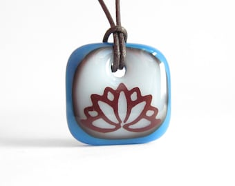 Lotus Flower Necklace / yoga flower necklace / pendant necklace yoga jewelry / spiritual flower jewelry / gift for her