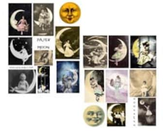 Paper Moon Digital Collage Sheets