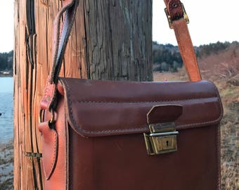 Old school camera bag by Leathercrafters