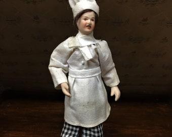 Dollhouse Chef/ Miniature/Porcelain