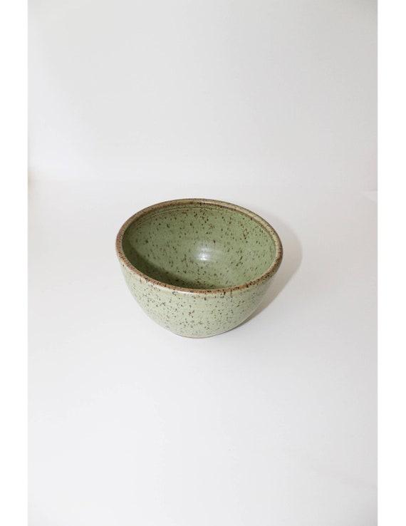 Handmade Ceramic Bowl, Ceramic Bowl, Green Bowl, Cereal Bowl, Ice Cream Bowl, Medium Ceramic Bowl, Rustic Bowl, Rustic Pottery