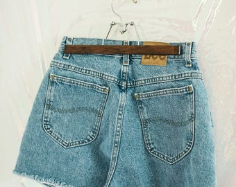 Vintage Lee High Waisted Denim Shorts