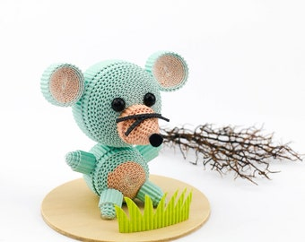 DIY mouse paper craft