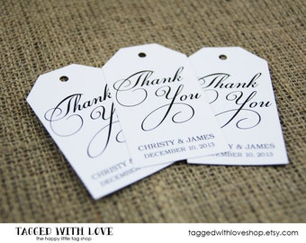 Thank You Tag - Wedding Favor Tag Custom Thank You Tags - Party Favor Tags - Bridal Shower Tags - Party Thank You Tags - Custom Tags - SMALL