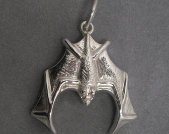 Bat pendant - Sterling silver