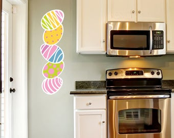 Colorful Eggs Easter Wall Sticker