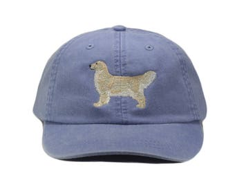 Golden retriever embroidered hat, baseball cap, dog lover gift, pet mom cap, dog mom, gift for pet lover, dad hat, english cream coat