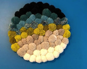 Large sean to sand pom pom wall hanging