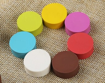 Solid Color Mini Round Rubber Block - DIY Rubber Stamp - Handwork Rubber - Graving Rubber - Dia 2.5cm - MR013