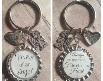 Infant Loss Keychain - Memorial Keychain - Remembrance Keychain - Mommy of an Angel - Daddy of an Angel - Child Loss Keychain