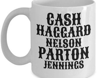 Country Music Mug with Classic Artists Last names